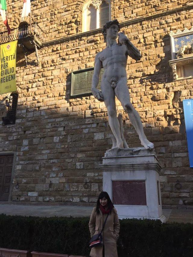 Patung David di Florence, Italia