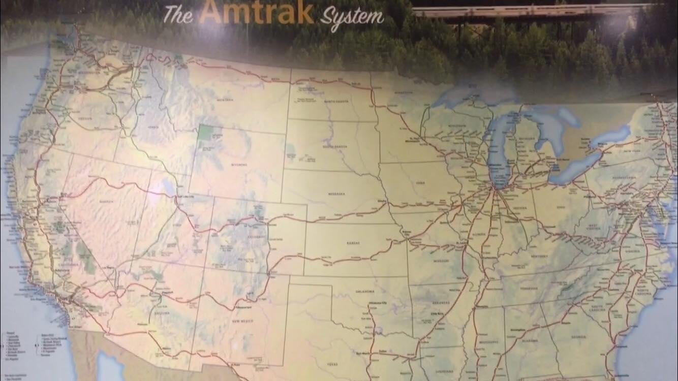 Naik kereta api di Amerika