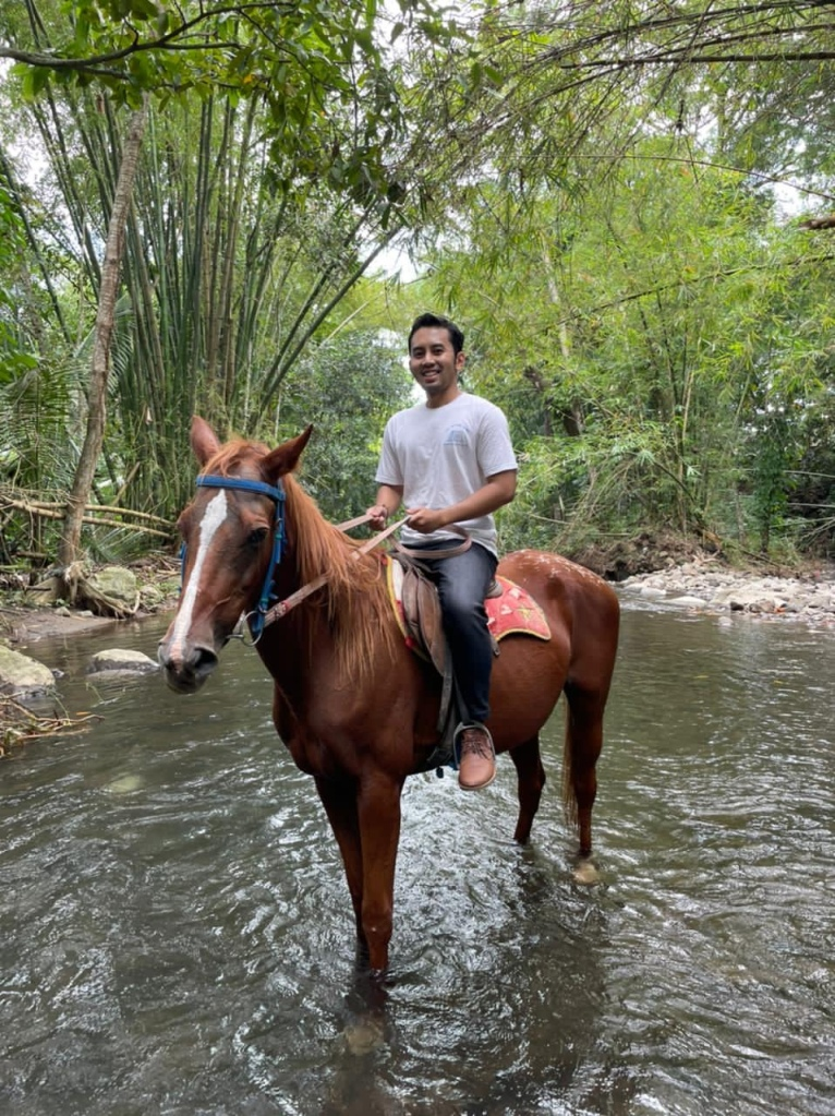 Horse riding in Indonesia